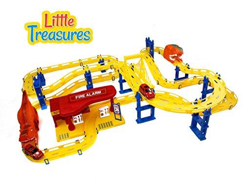Racing Fun Set (Little Treasures Toy, Extreme Fire Racing-Tracks Play-Set Fun Kids)