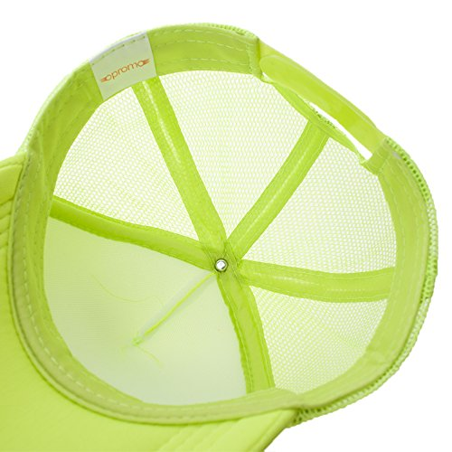 Opromo Summer Mesh Trucker Hat with Adjustable Snapback Strap Neon Baseball Cap-Neon Pink/White-24piece by Opromo (Image #4)