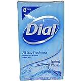 Dial Antibacterial Deodorant Soap, Spring Water, 8 Count