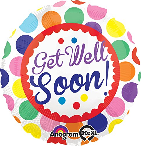 Anagram International Hx Get Well Soon Dots Balloon, Multicolor]()