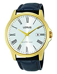 Lorus RS938B Classic Analog Gold-Plated Strap Watch