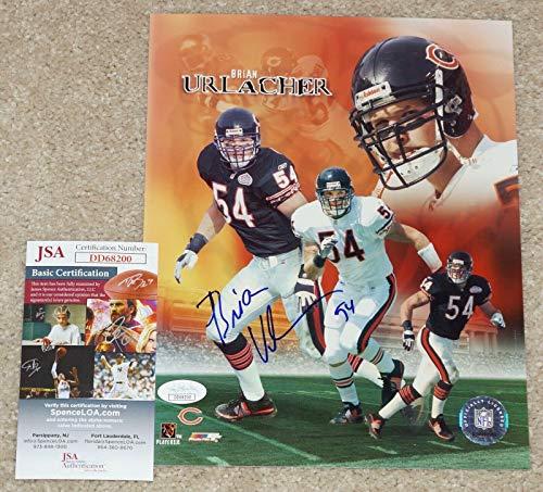 - Brian Urlacher Signed Photograph - #54 8x10 + COA DD68200 - JSA Certified - Autographed NFL Photos