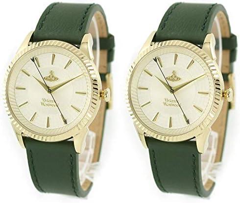 [ヴィヴィアン ウエストウッド ]Vivienne Westwood ペアウォッチ 収納BOX メンズ レディース ゴールド グリーン レザー ビビアン VV240GDGRVV240GDGR 腕時計 [並行輸入品]