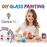 Genius Art DIY Glass Painting - Arts and Crafts Kit for Girls and Boys