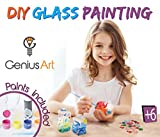 boys bedroom paint ideas Genius Art DIY Glass Painting - Arts and Crafts Kit for Girls and Boys - Stocking Stuffers for Kids
