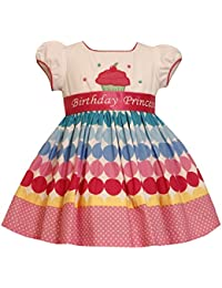 Bonnie Jean Girls Princess Polka Dot Cupcake Birthday Dress, 12m - 4t