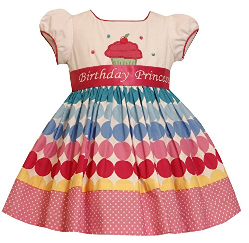 Bonnie Jean Girls Princess Polka Dot Birthday Dress, -