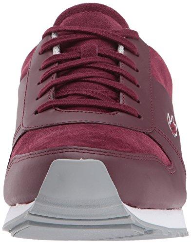 Menns Lacoste Sneaker Burgunder Rute 417 3