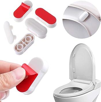 Bidet Toilet Seat Bumper For Bidet Attachment With Strong Adhesive White 4 Pcs Amazon Com