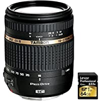 Tamron 18-270mm f/3.5-6.3 Di II VC PZD Aspherical f/ Canon DSLR With 6-Yr USA Warranty with Lexar 64GB Professional 633x SDXC Class 10 UHS-I/U3 Memory Card Up to 95 Mb/s Overview Review Image