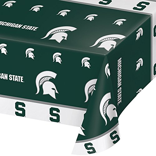 2-ct Michigan State University Spartans Premium Plastic Table Covers College Football Party