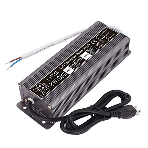 CATIYA 24V 100W LED Driver Transformer, IP67 Waterproof Constant Voltage Power Supply for LED Landscape Lighting ()