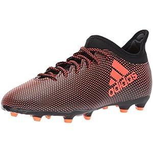 adidas Performance Boys' X 17.3 FG J Soccer Shoe, Black/Solar Red/Solar Orange, 3.5 Medium US Little Kid