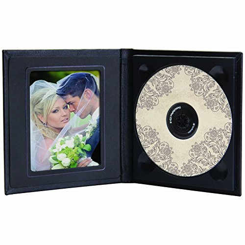 (Classic Leather CD/DVD Holder w/Optional Photo)