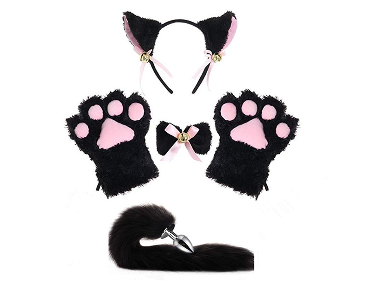 MIAOWU staydream Cat Cosplay Costume Kitten Tail Ears Collar Paws Gloves Anime Gothic Set