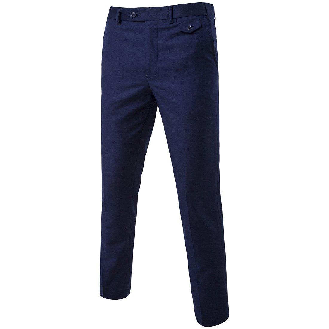 MAGE MALE Men's Classic Slim Fit Suit Pants Flat Front Wrinkle-free Stretch Casual Solid Long Trousers