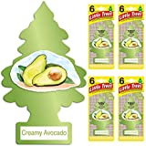 Little Trees Car Air Freshener | Hanging Tree Provides Long Lasting Scent for Auto or Home |Creamy Avocado, 6-Packs (4 Count)