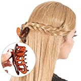 Bleaching Hair Everyday - RC ROCHE ORNAMENT Womens Butterfly Wing Hair Clip Strong Holding Sectioning Cute Plastic Girls Ladies Beauty Accessory Tool Jaw Clamps Claw Clips, 12 Pack Count Medium Brown