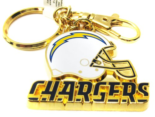 1 X Gold Metal San Diego Chargers Key Chain (San Diego Chargers Key Ring)
