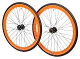 700c tires and rims - Retrospec Bicycles Mantra Fixed-Gear/Single-Speed Wheelset with 700 x 25C Kenda Kwest Tires and Sealed Hubs, Orange