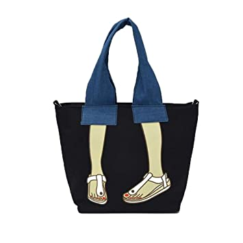 Women s Fashion Canvas Large Capacity Crossbody Shoulder Messenger Bag  Motorcycle Purse Handbag (Black) 1d5a52952ca51