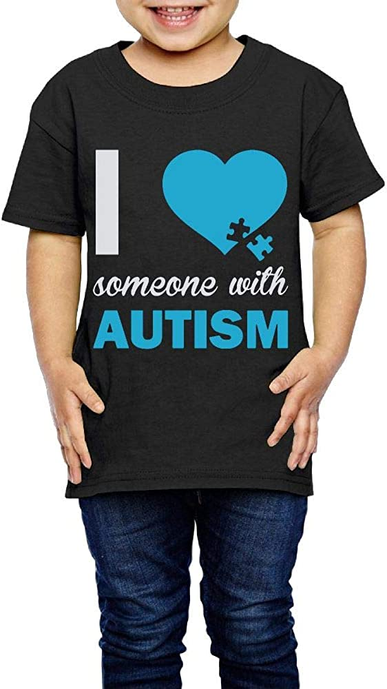I Love Someone with Autism 2-6 Years Old Child Short Sleeve T Shirt Autism Awareness