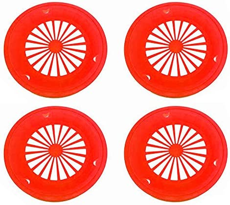 16 Pack Reusable Plastic Paper Plate Holders for 9 Plates Tropical Colors