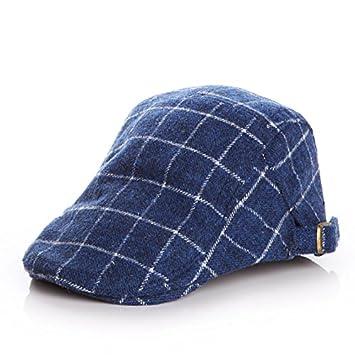 PyLios(TM) Woolen Baby Hat Winter Plaid Kids Cap Classic Baby Boy Hat  Accessories 7252043a2d4