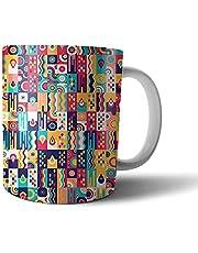 Printed Ceramic Mug - Multi Color