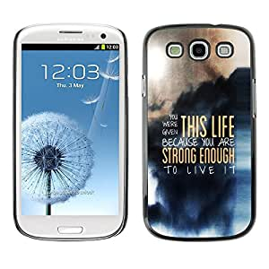 EJOY---Cubierta de la caja de protección la piel dura para el / Samsung Galaxy S3 / --ESTA VIDA MENSAJE PROFUNDO
