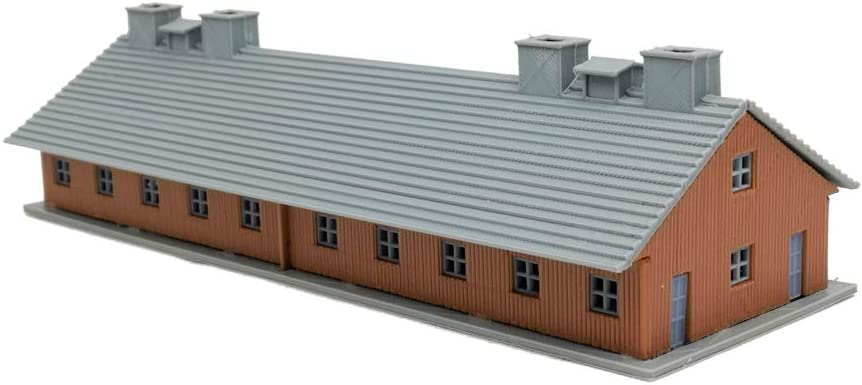 Outland Models Railroad Scenery Military Barrack 423mm long HO Scale 1:87