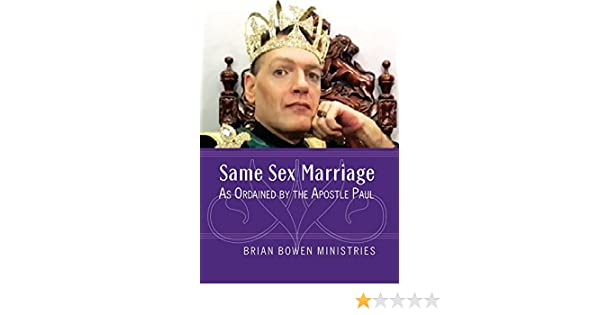 Amazon com: Same Sex Marriage as Ordained by the Apostle