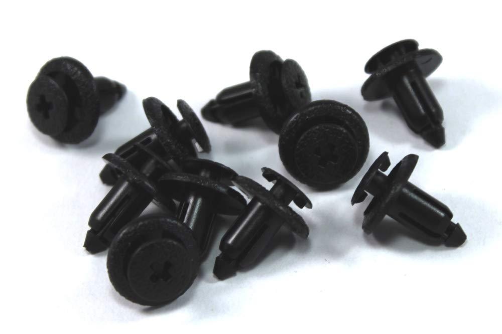 Motorcycle Plastic Fairing rivets Fasteners 6mm Pack of 10 Honda Yamaha Suzuki