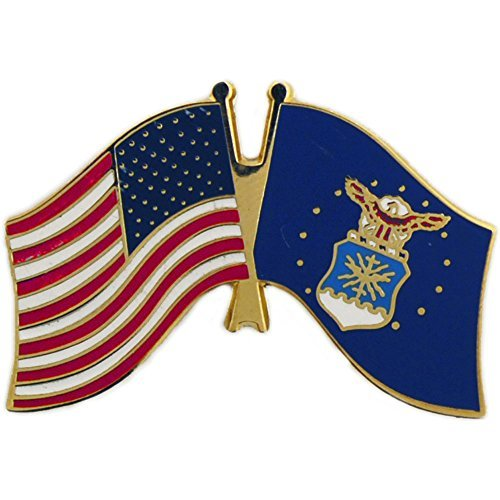 (EE, Inc. United States And Air Force Flag Pin Military Collectibles for Men Women, Small)