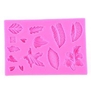 Hemore 3D Hojas Molde Silicona para Fondant Pastel, decoración, Hornear, glaseado, azúcar Manualidades: Amazon.es: Hogar