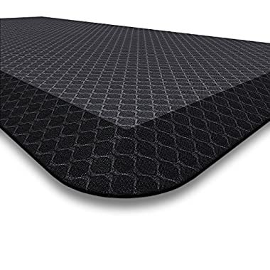 Premium Anti Fatigue Mat, 20  x 39  x 3/4 , Non-Toxic, Perfect for Standup, Standing Desk, Kitchen Floor and Garage, Commercial Grade, Extra Comfortable (Black)