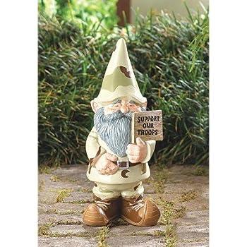 Gnomes Garden Decor Patriotic Support Our Troops Garden Gnome