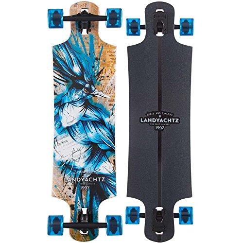 Landyachtz Drop-Through Longboards [Deck and Complete] (Drop Hammer, (Blue Jay - ()