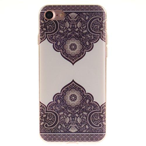 Custodia iPhone 7 / iPhone 8 , LH Diagonale Totem TPU Silicone Cristallo Morbido Case Cover Custodie per Apple iPhone 7 / iPhone 8 4.7