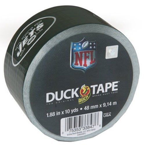 - Duck Brand 281539 New York Jets NFL Team Logo Duct Tape, 1.88-Inch by 10 Yards, Single Roll