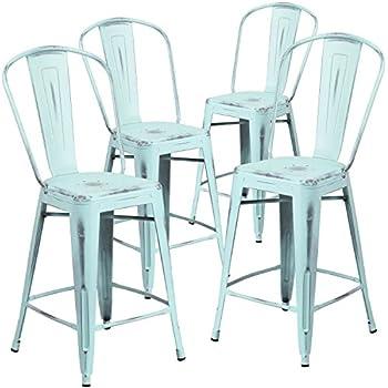 Amazon Com Flash Furniture 4 Pk 24 High Mint Green