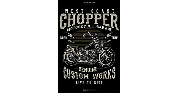 Chopper Motos Sweat à capuche West Coast garage genuine Custom Works Live pour R A032