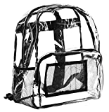 Clear School Breifcase and Travel Bookbag Use for Staduims and Security (Small)