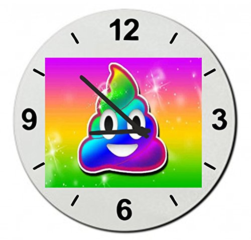 Rainbow Poo Children's Wall Clocks 7.08