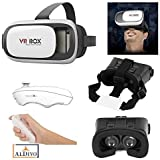 """ALDIVO® 3D Vr Box For One Plus 2 With Bluetooth Remote Control, Virtual Reality Headset 3D Glasses Version 2.0 Vr Box For One Plus 2 / Vr Box For 3.5~6.0"""" Mobiles"""