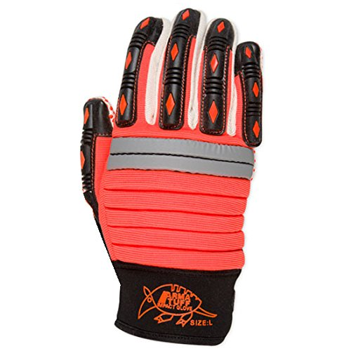 X-Large Southern Gloves KPPDMECHO-XL Long Wearing Orange Silicon Dotted Single Palm Impact Gloves