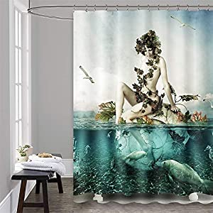 51R7-3RGEOL._SS300_ 200+ Beach Shower Curtains and Nautical Shower Curtains