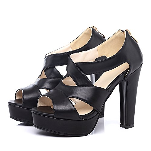 Sandales 811 Talons Mode Femmes Chunky JOJONUNU Black anvZIgZ