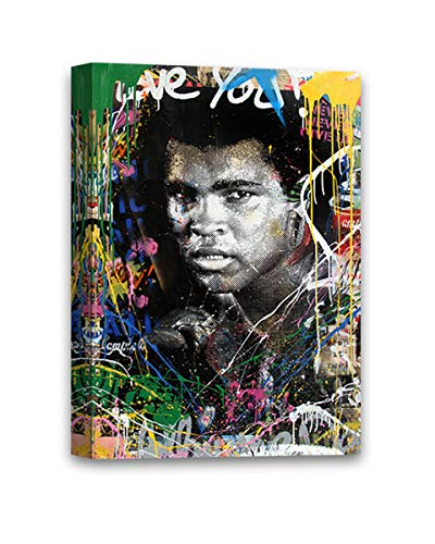 Funny Ugly Christmas Sweater Legendary Ali by Mr Brainwash The Greatest Muhammad Ali Canvas Decor MBW Framed Canvas Ready to Hang Canvas Graffiti by Mr Brainwash 8