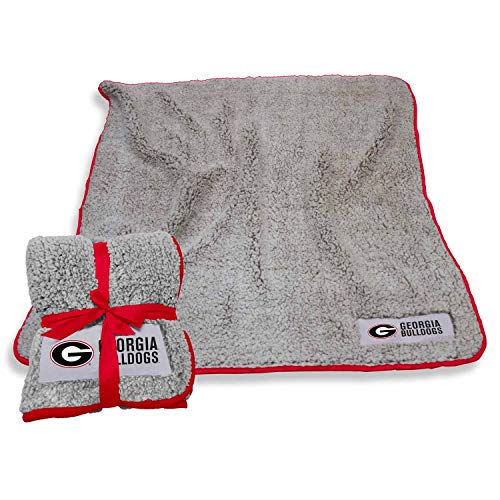 Logo Georgia Bulldogs NCAA Frosty Fleece 60 X 50 Blanket - Team - Bulldogs Fleece